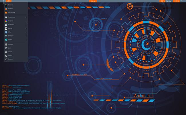 Archman Linux i3WM 2020 06