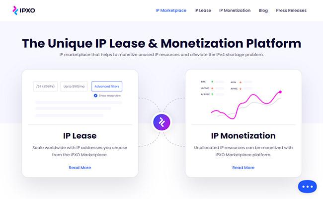 IPXO Homepage
