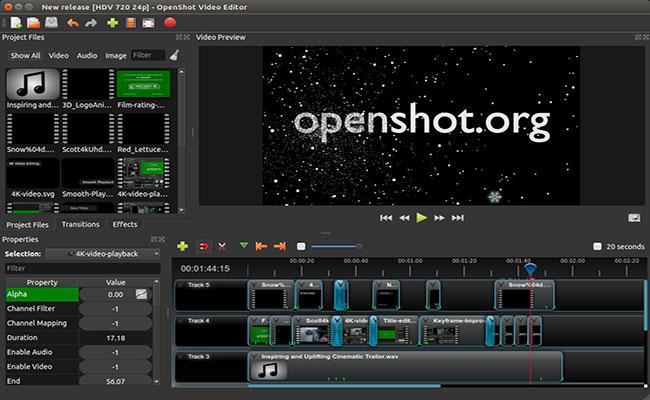 Openshot-Linux-Video-Editor