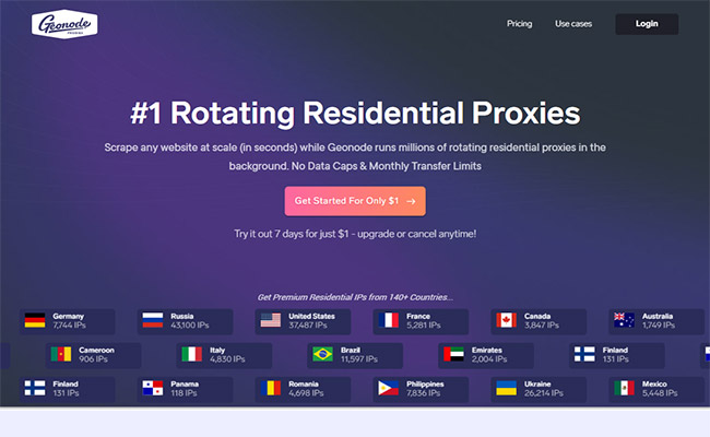 Geonode Residential Proxies