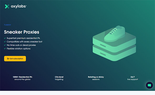 Oxylabs Sneaker Proxies